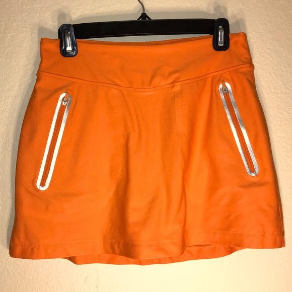 Nike Golf Tour Performance Skort, Sz Small, Orange